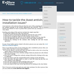 How to tackle the Avast antivirus installation issues?