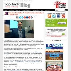 Lee Odden Tackles Influencer Marketing in 5 Simple Steps #CMWorld