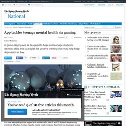 App tackles teenage mental health via gaming