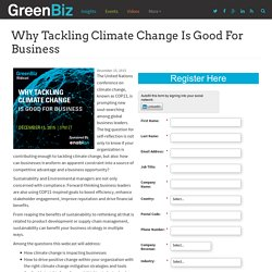 Why Tackling Climate Change is Good for Business