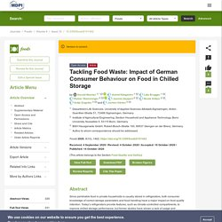 FOODS 14/10/20 Tackling Food Waste: Impact of German Consumer Behaviour on Food in Chilled Storage