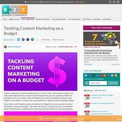 Tackling Content Marketing on a Budget