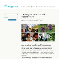 Tackling the crisis of social disconnection