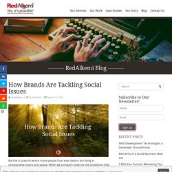 How Brands Are Tackling Social Issues, Social issues in Business Examples, Current Landscape on Social Issues - RedAlkemi
