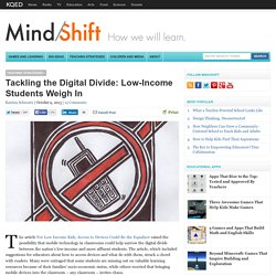 Tackling the Digital Divide: Low-Income Students Weigh In