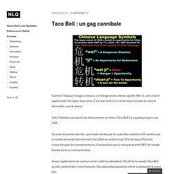 Taco Bell : un gag cannibale