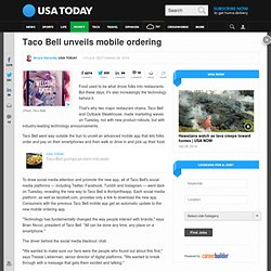 Taco Bell unveils mobile ordering