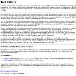 Tact Filters