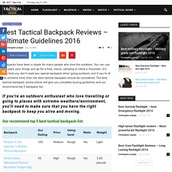 Best Tactical Backpack Reviews - Ultimate Guidelines 2016
