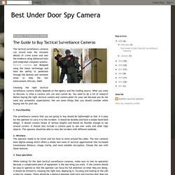 The Guide to Buy Tactical Surveillance Cameras