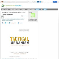 Tactical Urbanism and City Planning and Book Review