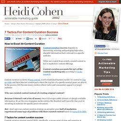 7 Tactics For Content Curation Success