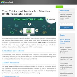Tips, Tricks and Tactics for Effective HTML Template Design