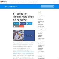 5 Tactics for Getting More Likes on Facebook - AddThis Academy