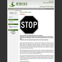 Black-Hat SEO Tactics Outlined by Beanstalk