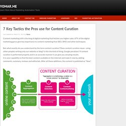 Yomar: 7 Key Tactics the Pros use for Content Curation