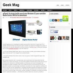 mPanel: Un écran tactile mural sous Windows CE pour contrôler Me