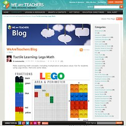 Tactile Learning: Lego Math