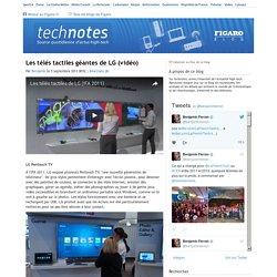 Les télés tactiles géantes de LG (vidéo) — technotes