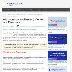 ▶ 9 Tactiques Efficaces pour Vendre sur Facebook