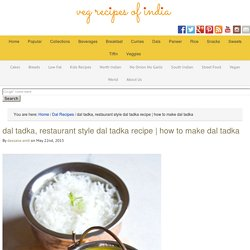 dal tadka, restaurant style dal tadka recipe