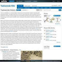 Taekwondo History - Taekwondo Wiki