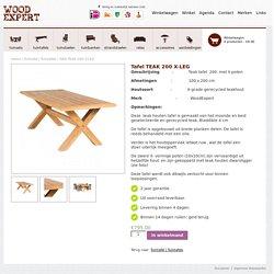 Tafel TEAK 200 X-LEG - WoodExpert WoodExpert