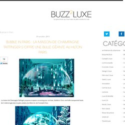 Buzz de Luxe » Bubble in Paris