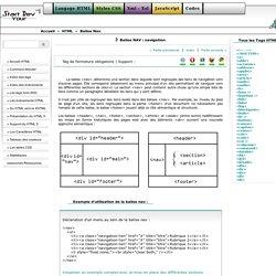 Tag HTML5 - Balise NAV