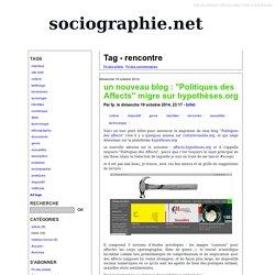 Tag - rencontre - sociographie.net