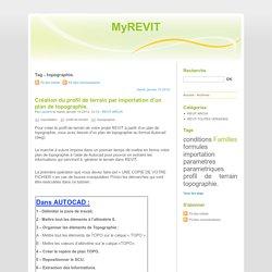 Tag - topographie. - MyREVIT