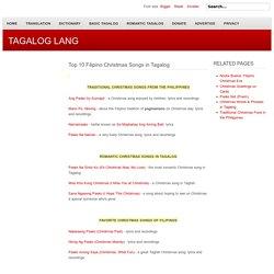 TAGALOG LANG - Top 10 Filipino Christmas Songs in Tagalog