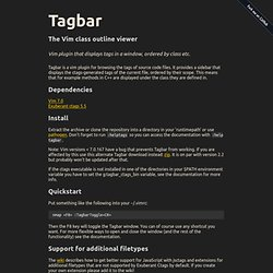 Tagbar, the Vim class outline viewer