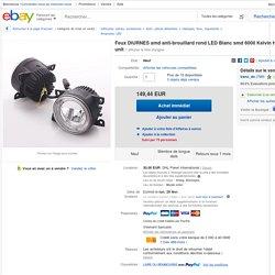 Tagfahrlicht SMD Nebelscheinwerfer Rund LED Weiß SMD 6000 Kelvin High Power Eint