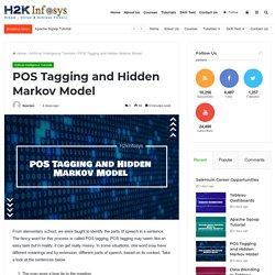 POS Tagging and Hidden Markov Model - H2kinfosys Blog
