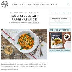 Tagliatelle mit Paprikasauce - eat this!