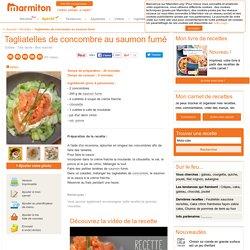 Tagliatelles de concombre au saumon fumé : Recette de Tagliatelles de concombre au saumon fumé
