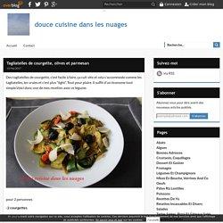 Tagliatelles de courgette, olives et parmesan