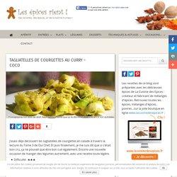 Tagliatelles de courgettes au curry - coco