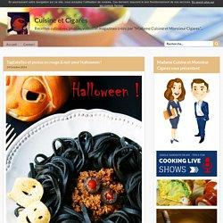 Tagliatelles et pestos en rouge & noir pour Halloween