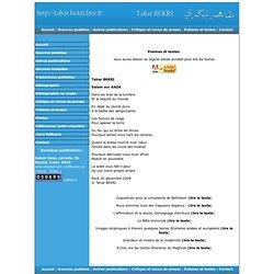 Tahar BEKRI, site officiel de l'auteur - Poésie