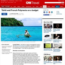 Tahiti and French Polynesia on a budget