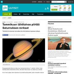 Tammikuun tähtitaivas piirtää Saturnuksen renkaat
