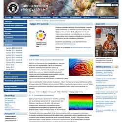 Tähtitieteellinen yhdistys Ursa: Syksyn 2015 esitelmät