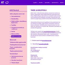Taide ja muotoilu - Aalto Junior