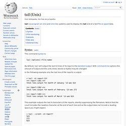 tail (Unix)