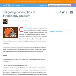 Tailgating parking tips at FirstEnergy Stadium