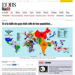 Et si la taille des pays était celle de leur population... - Rue89 - L'Obs