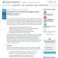 Guide 2016 de la taille des images sur les réseaux sociaux
