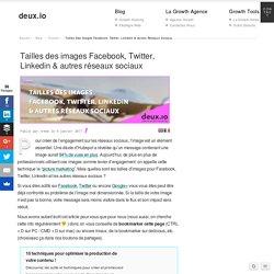 Tailles d'images Facebook, Twitter, Linkedin...